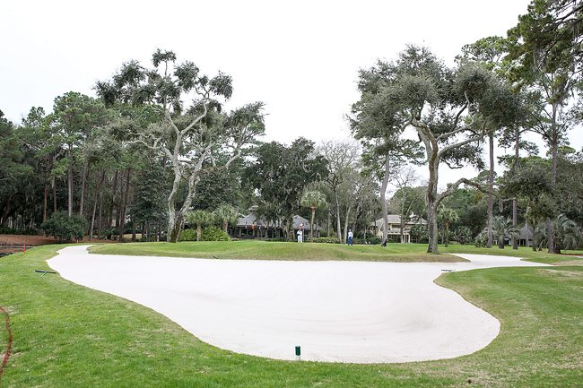 Challenging golf hole at Harbour Town Golf Links