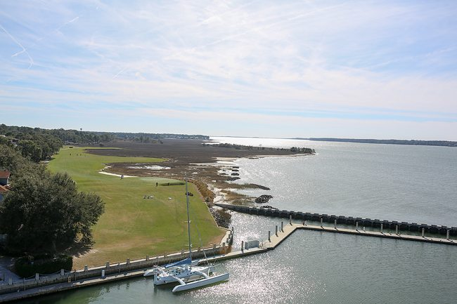 Beautiful Harbour Town golf course