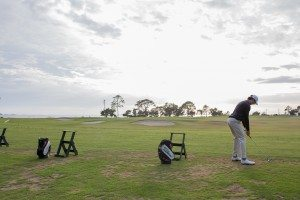 driving range with ocean view