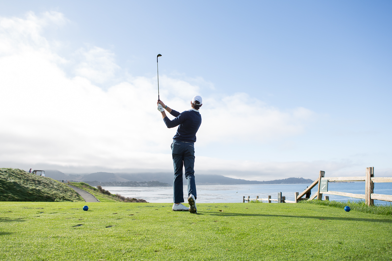 Famous golf hole at Pebble Beach
