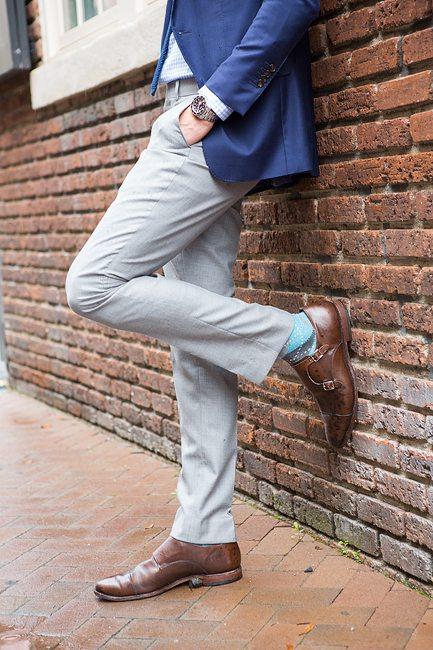 Dapper monk strap dress shoe