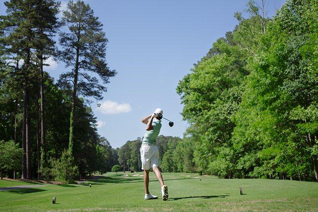 Tight fairways at Duke Golf Club
