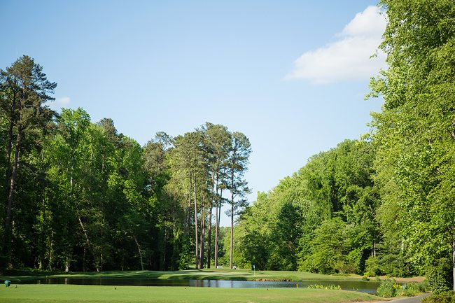 Challenging golf hole at Duke Golf Club