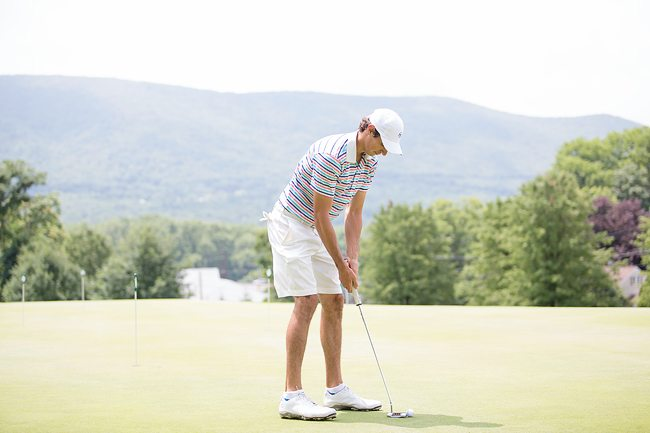 Practice golfing