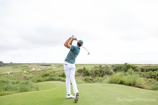14th tee shot at The Ocean Course