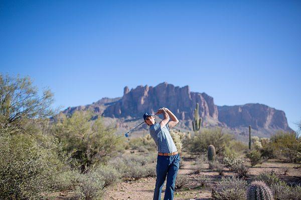 Golf in the desert