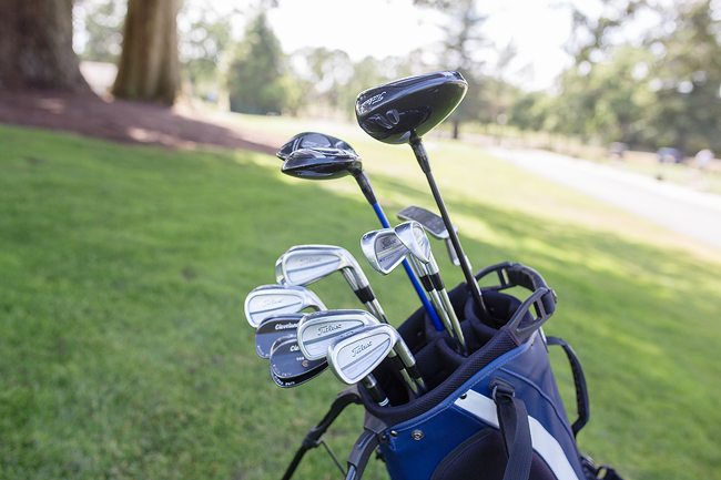 Whats in the bag - clubs side view 2