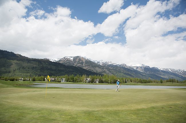 Hole 6 - Teton Mountain View from green