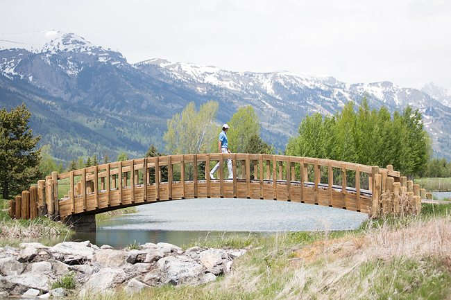 Hole 7 - Bridge crossing Grand Teton