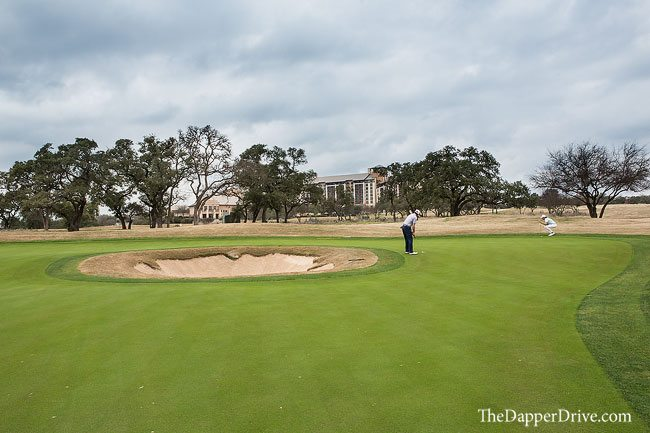 green with bunker