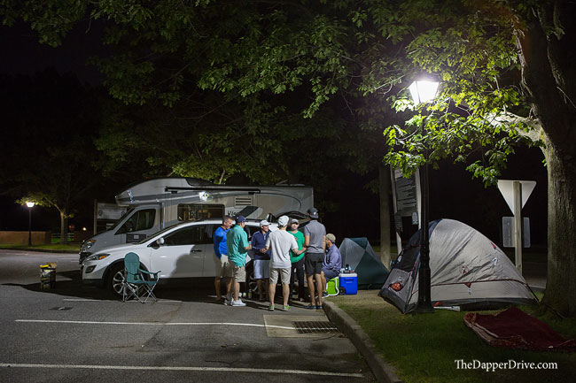 camping out at bethpage black