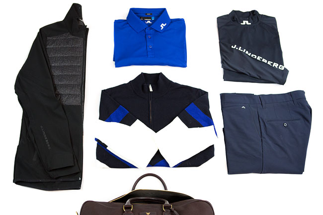 Fashionable J. Lindeberg golf apparel