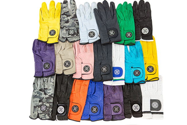 colored golf glove
