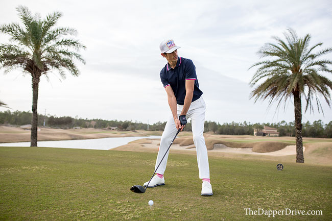 white pants for golf