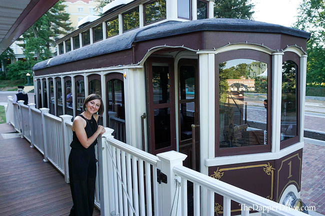 Restored trolley car